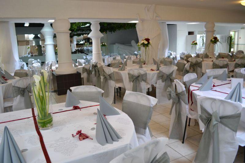 Salle Fleur de Lys blanc et gris
